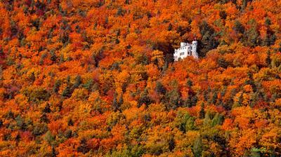 одиночество... осень горы дом путешествие дороги
