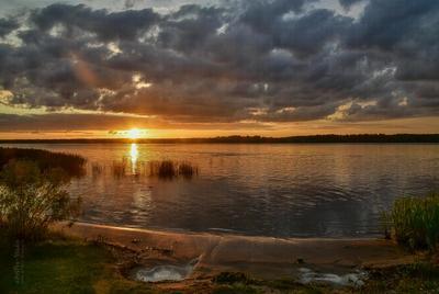 Просто вечер на Волге пейзаж закат вечер Волга тишина