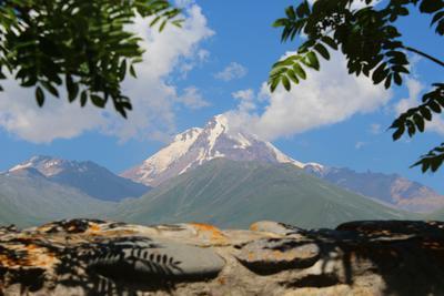 Mountain Kazbeg mountain nature Kazbeg Caucasus