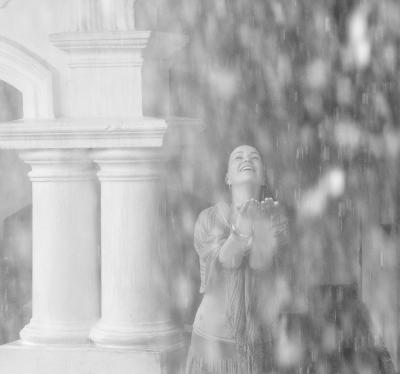 Летний дождь. Девушка, Дождь.