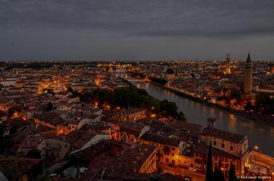 Вечер verona italia верона италия