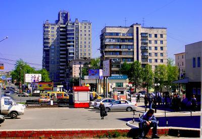 Челябинск. Вид на ул. Кирова город улица Челябинск