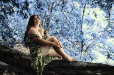 *** портрет на природе в лесу