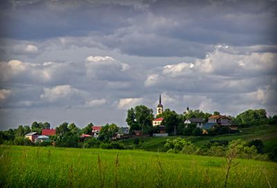 *** село поле церковь россия деревня