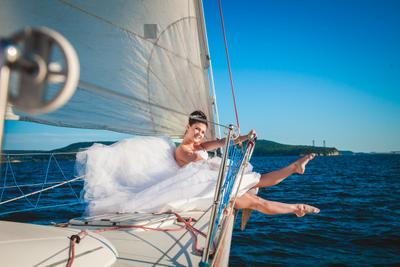 *** невеста яхта.море красотка