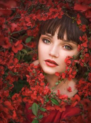пробуждение весна портрет глаза цветение