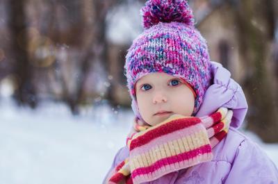 Морозец зима портрет дети снег