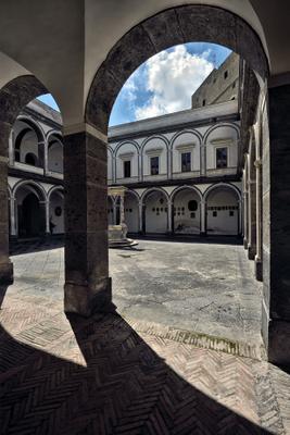 Внутренний двор. efim58 в Неаполе Италия Чертоза Сан Мартино