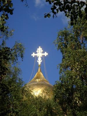 Новая церковь Ярославль, церковь, крест, купола