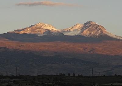 Арагац горы осень заря рассвет