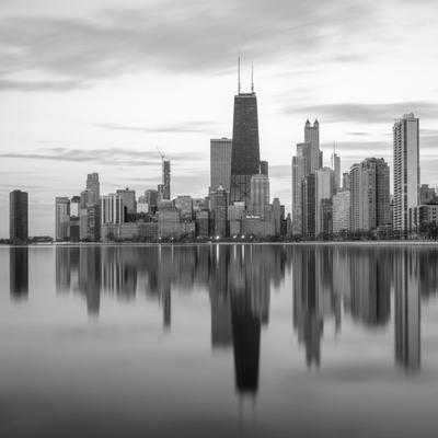 Downtown Chicago чикаго озеро мичиган отражение Chicago Lake Michigan reflection
