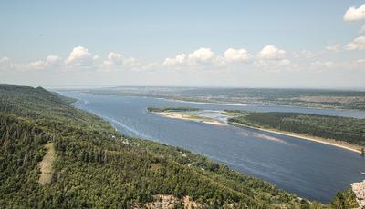 Вид с горы Стрельна.