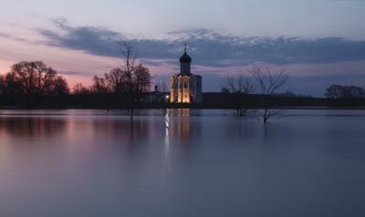 Вечность... Владимирская область Нерль разлив Церковь Покрова река рассвет