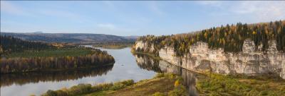 осень Северного Урала Говорливый Пермский край Вишера золотая осень