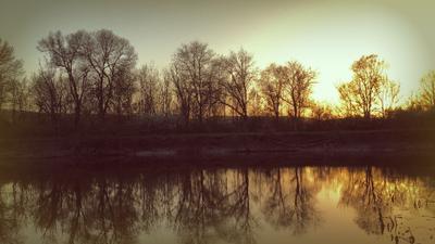 *** закат пейзаж природа речка