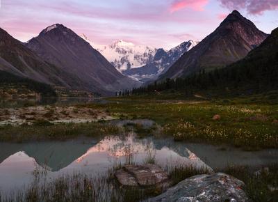 Открытка с аккема аккем алтай озеро горы
