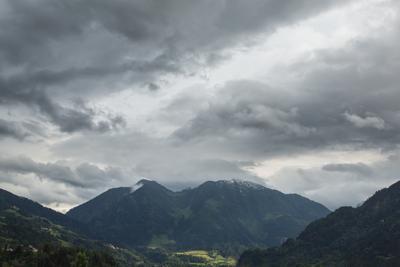 Проблески атмосферы пейзаж, горы,