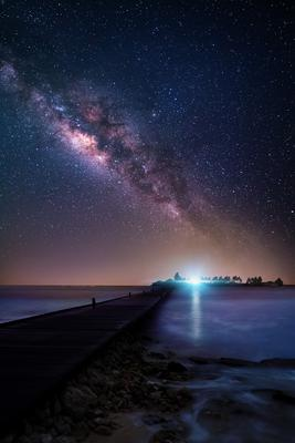 Ночь на Мальдивах ночь млечный путь звезды мальдивы
