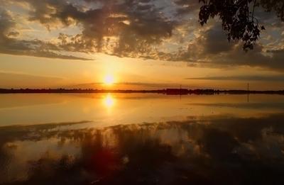 Обской закат Томская область июнь 2020 река Обь закат