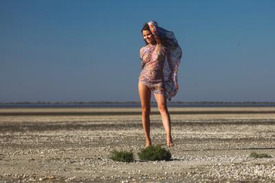 Кристина (фото 5) девушка природа лиман лето