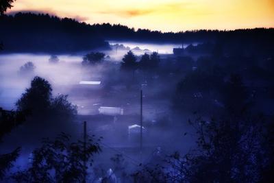 Туманы на Журавлиной реке (2) туманы карелия река ночь