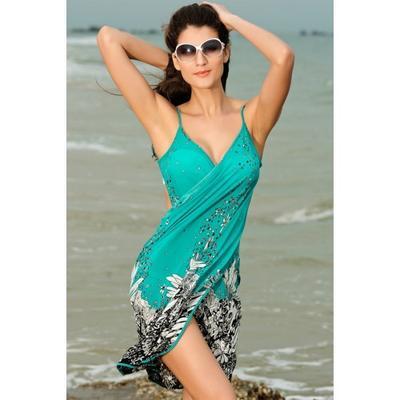 2015 New Softness Chiffon Thin Spaghetti Strap Elegant Changeable Dresses Sun-protection Shawl dresses cheap sexy party casual