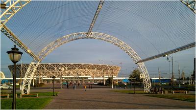 Волгоград-арена Волгоград стадион футбол арка осень город