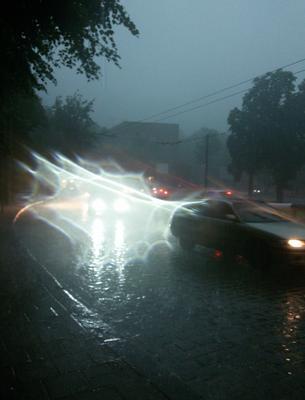 *** машины дорога дождь блики