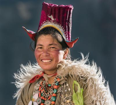 Женщина племени Ладакх Индия ладакх