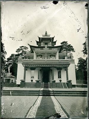 Читинский дацан амбротип мокрый коллодий большой формат буддизм