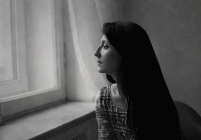 Ахматова профиль девушка портрет чб настроение