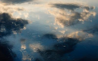 *** Масло пастель текстура облака рассвет омут