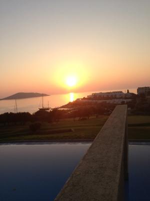 *** Солнце Турция закат отель вода небо вид лето