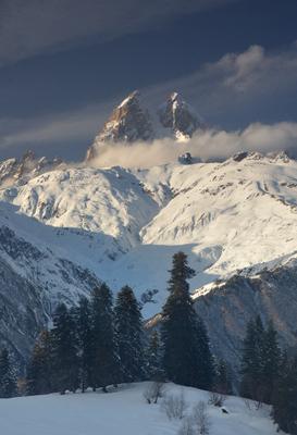С видом на Ушбу Горы Сванетия Ушба