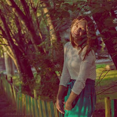 melancholy days лето вечер закат портрет меланхолия светотень