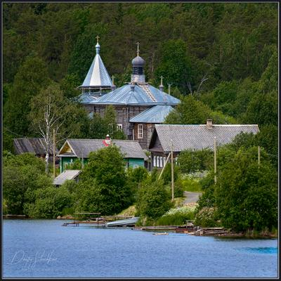 На реке Свирь (Ленинградская обл.) река Свирь Ленинградская церковь храм лес