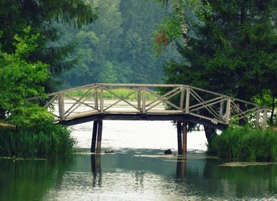 Мостик в Абрамцево Абрамцево мост