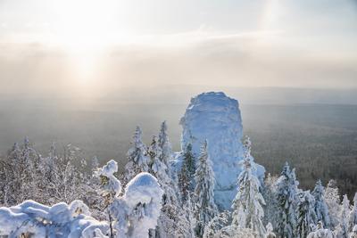 Гора Колпаки гора зима снег пейзаж природа туризм Пермский_край Урал
