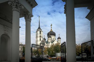 Благовещенский собор архитектура храм небеса облака