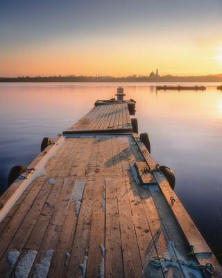 Пристань Пермь Пермский край река закат