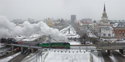 Комсомольская площадь паровоз ржд железная дорога