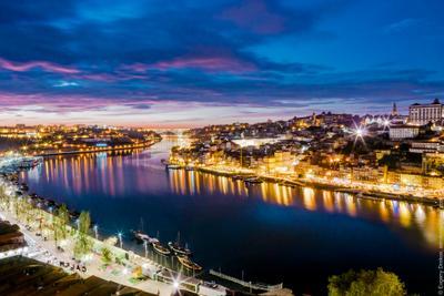 Порто в декабре порто португалия город река вечер