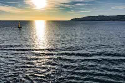 Средиземное море. Закат. пейзаж море закат