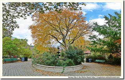 Ван Ворст Парк в Джерси Сити город парк осень