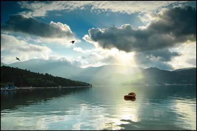 Тихое утро хорватия, отпуск, горы, море