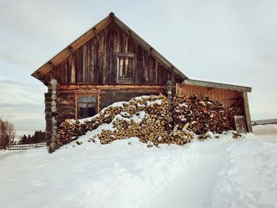 Домик в деревне. зима деревня дом
