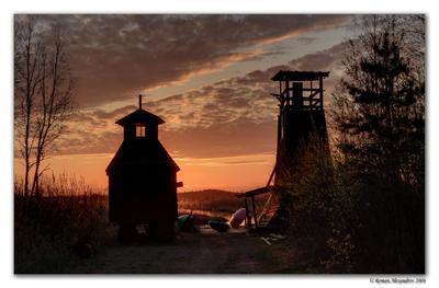 Пирс Восход пирс озеро маяк