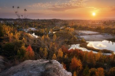 "Осенний закат в ""Белом колодце"" осень 2020 воронеж"
