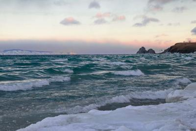 Идеальный шторм.. байкал ольхон малое море ветер декабрь
