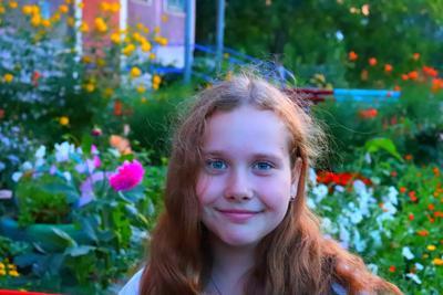 Цветущее настроение девочка цветы настроение